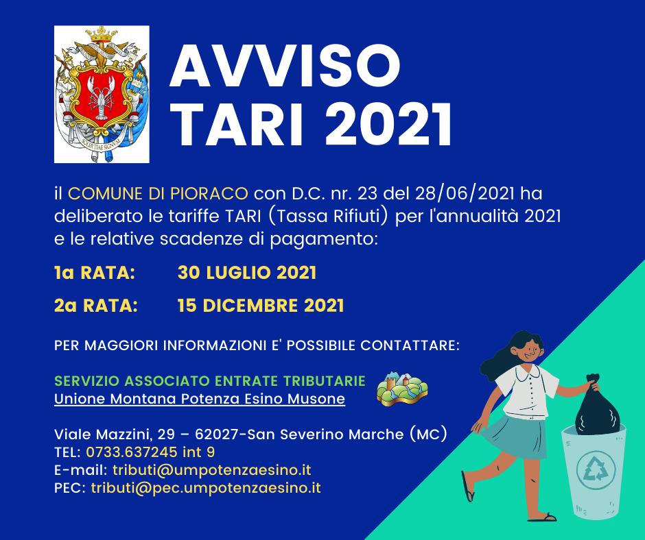 AVVISO TARI 2021