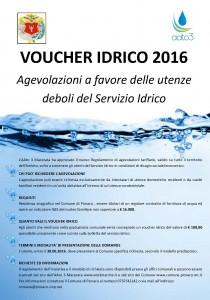 Voucher idrico 2016