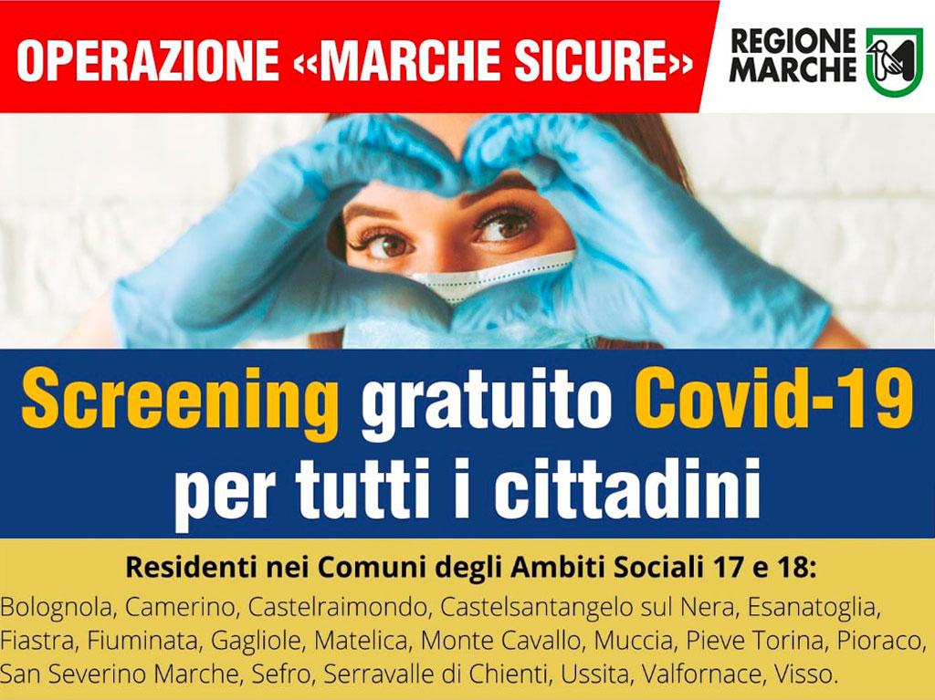 Screening gratuito Covid-19 per tutti i cittadini